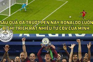 Ronaldo giả vờ đá hỏng phạt đền, Bồ Đào Nha mới vô địch Euro 2016