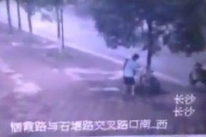 Phẫn nộ thanh niên... cưa cây trộm xe đạp trên vỉa hè