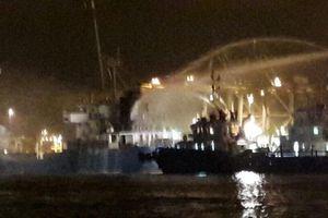 Cứu tàu cháy trên sông Thị Vải