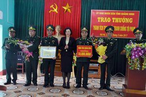 UBND tỉnh Quảng Ninh thưởng nóng cho Đồn BP Quảng Đức