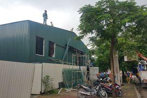 Đất xây dựng trường học ở KĐT Pháp Vân - Tứ Hiệp bị sử dụng sai mục đích: Cưỡng chế công trình vi phạm