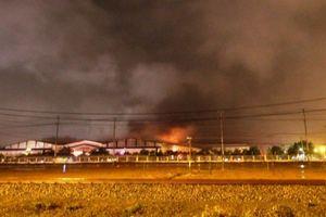 Cháy lớn đầu năm tại Khu phức hợp ô tô Chu Lai - Trường Hải
