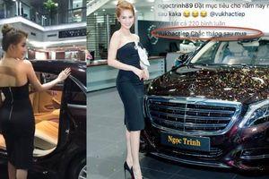 Ngọc Trinh mua hay chỉ quảng bá siêu xe Maybach S500 giá 12 tỉ?