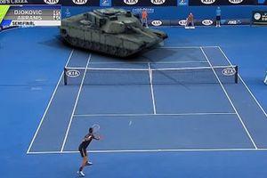 Xem xe tăng M1 Abrams đấu tennis với Novak Djokovic