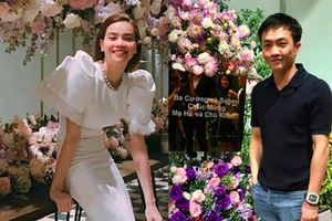 Khai trương cửa hàng hoa, Cường Đô la chúc mừng Hà Hồ