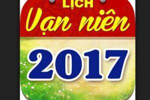 Ngày âm lịch hôm nay: ngày 3.6.2017 dương lịch