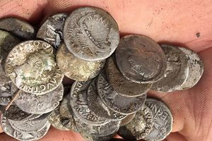Tìm được kho báu 600 đồng xu cổ La Mã trên ruộng