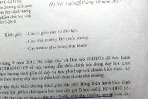 Bộ GD-ĐT giải thích công văn gây 'hiểu lầm'