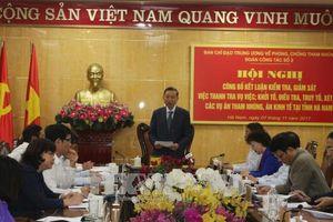 Công bố kết luận kiểm tra, giám sát phòng, chống tham nhũng tại Hà Nam