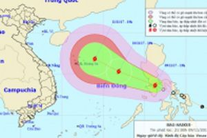 Sáng mai, bão Haikui sẽ vào Biển Đông