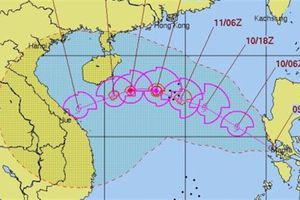 Bão số 13: Mỹ dự báo vào khu vực miền Trung