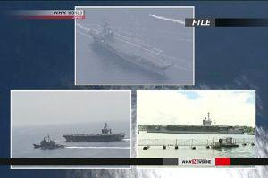 Ba tàu sân bay Mỹ phô diễn sức mạnh gần Triều Tiên
