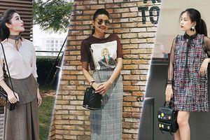 Sao Việt diện trang phục nữ tính xuống phố tuần qua