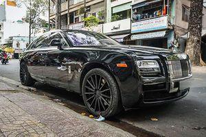 Siêu xe sang Rolls-Royce Ghost độ mâm Vossen tại Sài Gòn