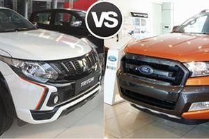 Ford Ranger Wildtrak và Mitsubishi Triton Athlete: Bán tải 1 cầu số tự động so kè