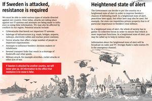 Toàn dân Thụy Điển được phát cẩm nang ứng phó chiến tranh