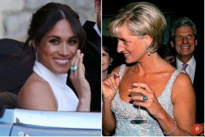 Câu chuyện đằng sau chiếc nhẫn bằng đá quý Aquamarine đeo trên ngón tay công nương Meghan