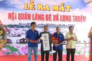 Hồng Ngự: Ra mắt Hội quán làng bè