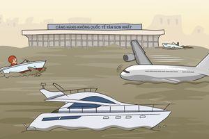 60 năm trước, sân bay Tân Sơn Nhất chống ngập như thế nào?