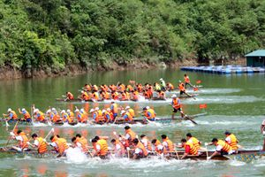 Hà Giang: Chuẩn bị cho Lễ Hội đua thuyền huyện Quang Bình lần thứ V