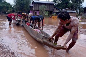 Từ rốn lũ sau sập đập thủy điện Lào: Bùn phủ đỏ Attapeu
