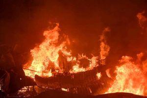 Chợ Gạo Hưng Yên gần như bị thiêu trụi sau đám cháy