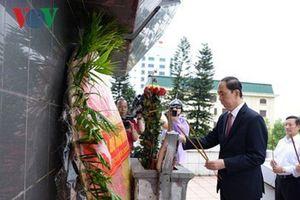 Chủ tịch nước Trần Đại Quang thăm và làm việc với tỉnh Hưng Yên