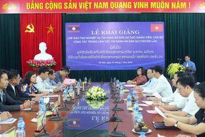 Khai giảng Lớp đào tạo nghiệp vụ THADS cho cán bộ, giảng viên CHDCND Lào