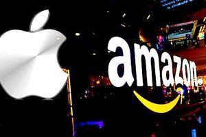 Apple, Amazon dẫn đầu cuộc đua trở thành công ty nghìn tỷ USD đầu tiên