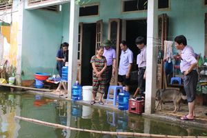 Hà Nội: Đê tả Bùi, sông Tích tạm thời an toàn