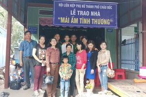 Trao tặng nhà 'Mái ấm tình thương' cho phụ nữ nghèo biên giới An Giang