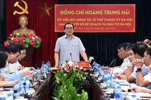 Bí thư Thành ủy Hà Nội làm việc với Sở Kế hoạch và Đầu tư Thành phố