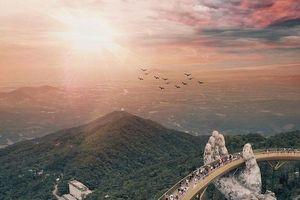 Vẻ đẹp hùng vĩ của Cầu Vàng (Đà Nẵng) khiến báo chí nước ngoài ngưỡng mộ
