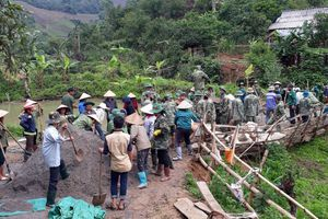 'Công trình quân dân' trên biên giới Lóng Sập