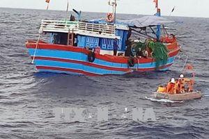 11 ngư dân vụ cháy, chìm tàu cá được đưa vào bờ an toàn
