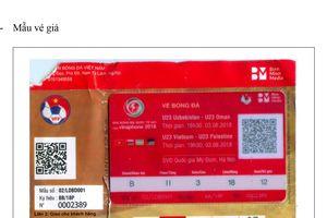 Phát hiện vé giả trước trận U23 Việt Nam gặp U23 Uzbekistan