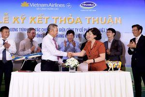 Vinamilk cung cấp sữa trên chuyến bay của Vietnam Airlines