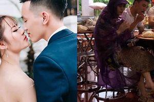 Cô dâu dở khóc, dở cười với 'combo' đội nón mê, mặc áo mưa, đi dép tổ ong trong ngày cưới