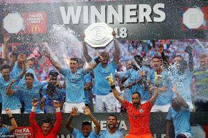 Aguero lập cú đúp, Man City giành siêu cúp Anh