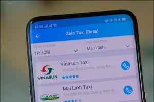 Zalo bất ngờ thử nghiệm dịch vụ Zalo Taxi