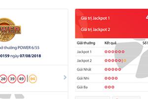 Kết quả xổ số Vietlott hôm nay 7/8/2018: Jackpot hơn 47 tỷ đồng bị 'tóm gọn'