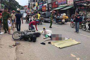 Hà Nội: Bị xe container cuốn vào gầm, tài xế grabbike tử vong tại chỗ