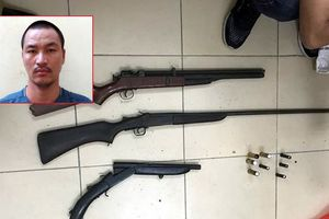 Bắt kẻ cầm đầu đường dây trộm cắp, thu giữ nhiều súng đạn