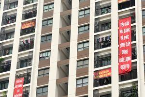 Chủ đầu tư HD Mon City yêu cầu cư dân gỡ băng rôn