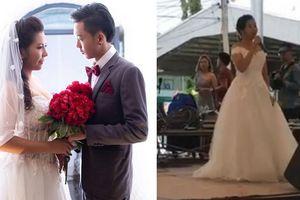 Cô dâu đau đớn cầm mic thông báo chú rể đã bỏ trốn ngay trong đám cưới