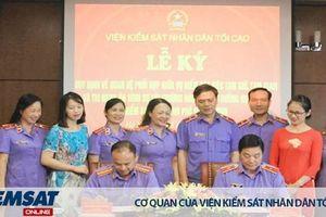 Lễ ký Quy định phối hợp giữa Vụ 8 và Trường Đào tạo, bồi dưỡng nghiệp vụ kiểm sát tại TP Hồ Chí Minh