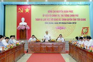 Thủ tướng Chính phủ: Tốc độ tăng trưởng tỉnh Tiền Giang chưa xứng với tiềm năng