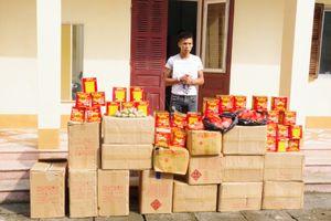 Thu giữ 377 kg pháo nổ tại khu vực cửa khẩu Tân Thanh