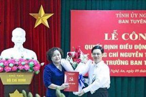 Bà Nguyễn Thị Thu Hường giữ chức Trưởng ban Tuyên giáo Tỉnh ủy Nghệ An