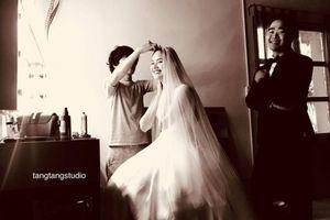 Hậu trường chụp ảnh cưới hạnh phúc của Tuyết Lan và hôn phu